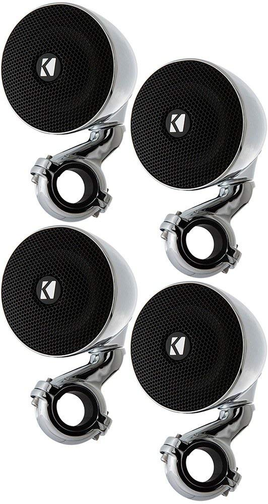 "Kicker Bundle of 2 Items: Two 40PSM32 3"" PowerSports Series Mini-Enclosed Speakers (2 Pairs)"