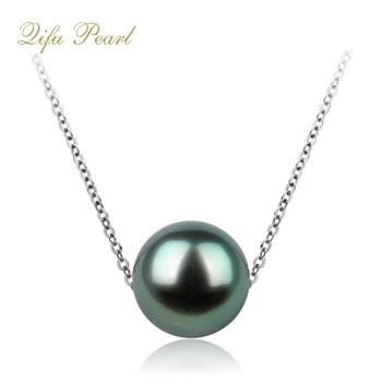 3b18df3d1 Factory Direct Wholesale Simple Design Tahitian Black Pearl Necklace ...