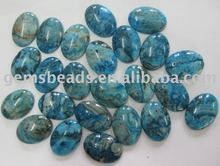 Teal/Blue crazy lace agate cabochon bead