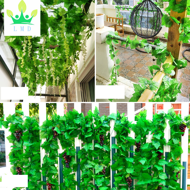 Artificial Ivy, Outgeek 12 Strands 84 Ft Silk Fake Ivy Leaves Hanging Vine Leaves Garland for Wedding Party Garden Wall Decor