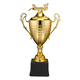 dragon boat game gold plating metal medal trophy cup with gift box