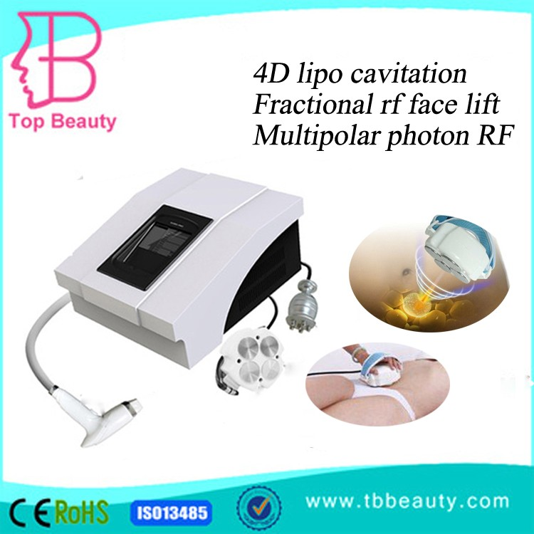 3 in 1 4D Cavitation with Fractional RF for fast weight lose body slim machine