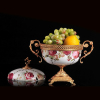 Western home decoration decorative ceramic fruit bowl