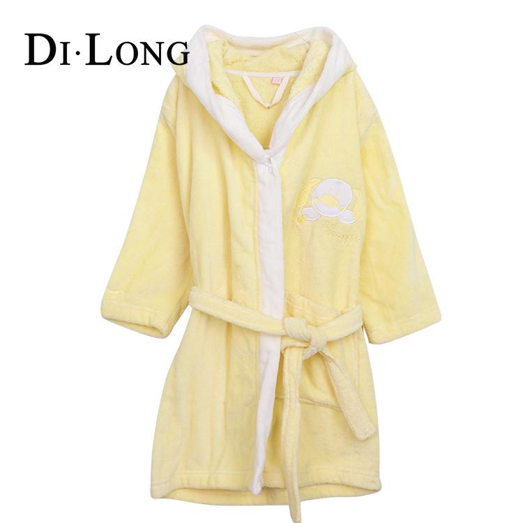 Underwear & Sleepwears Childrens Bathrobes Cotton Kids Dressing Gown Child Cartoon Pyjamas Towel Fleece White Bath Robe Boys Autumn Winter Ample Supply And Prompt Delivery