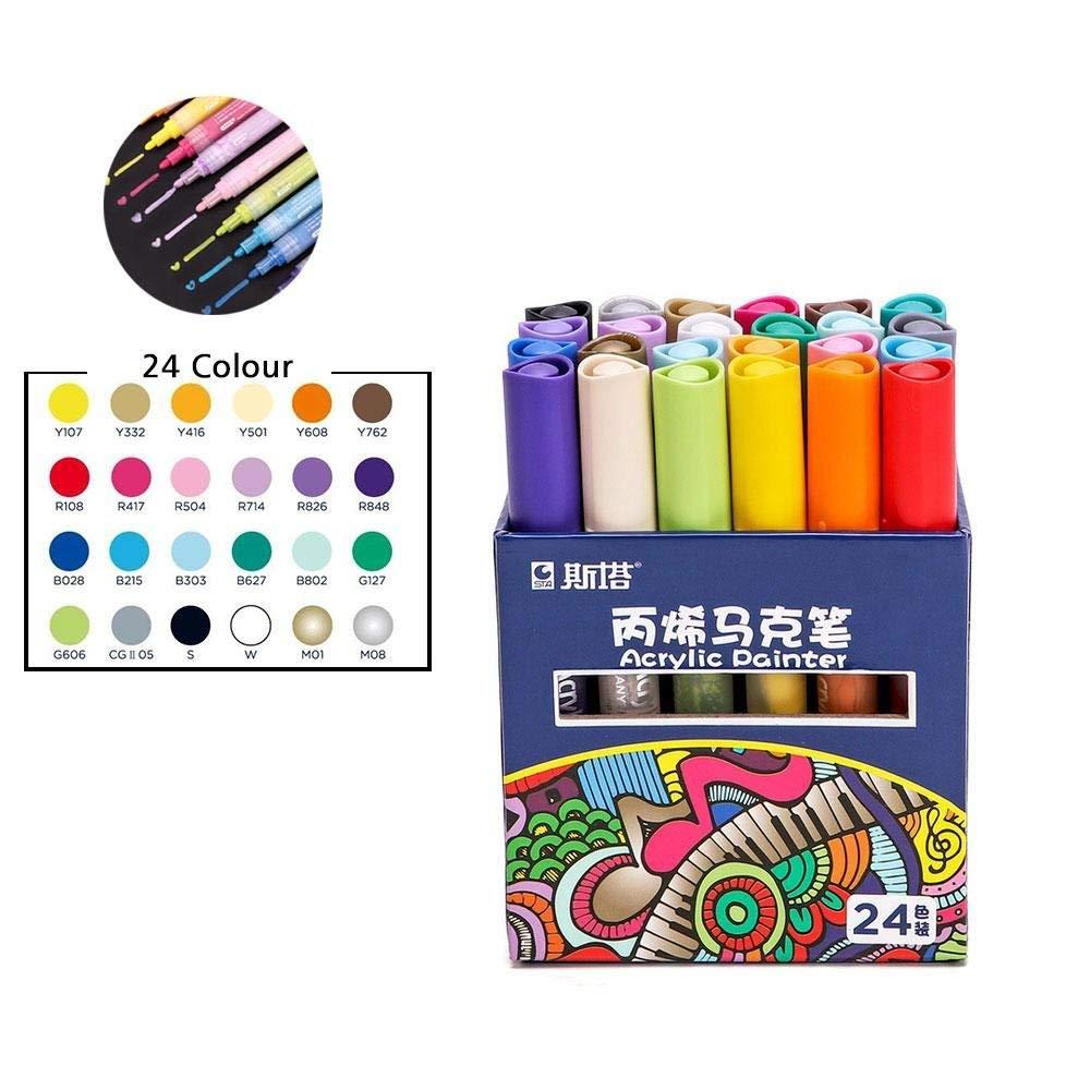 Buy Aolvo Metalic Marker Pens Graffiti Markers Set Glitter