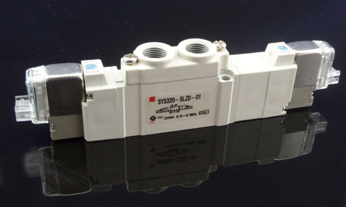 Sy5220-5gd-01 Series 5/2 Way Pneumatic Control Valve-smc Solenoid ...