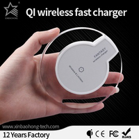 XBH Factory Cheapest Qi fast Slim Charging Pad quick wireless charger for iphone/samsung CE Approval