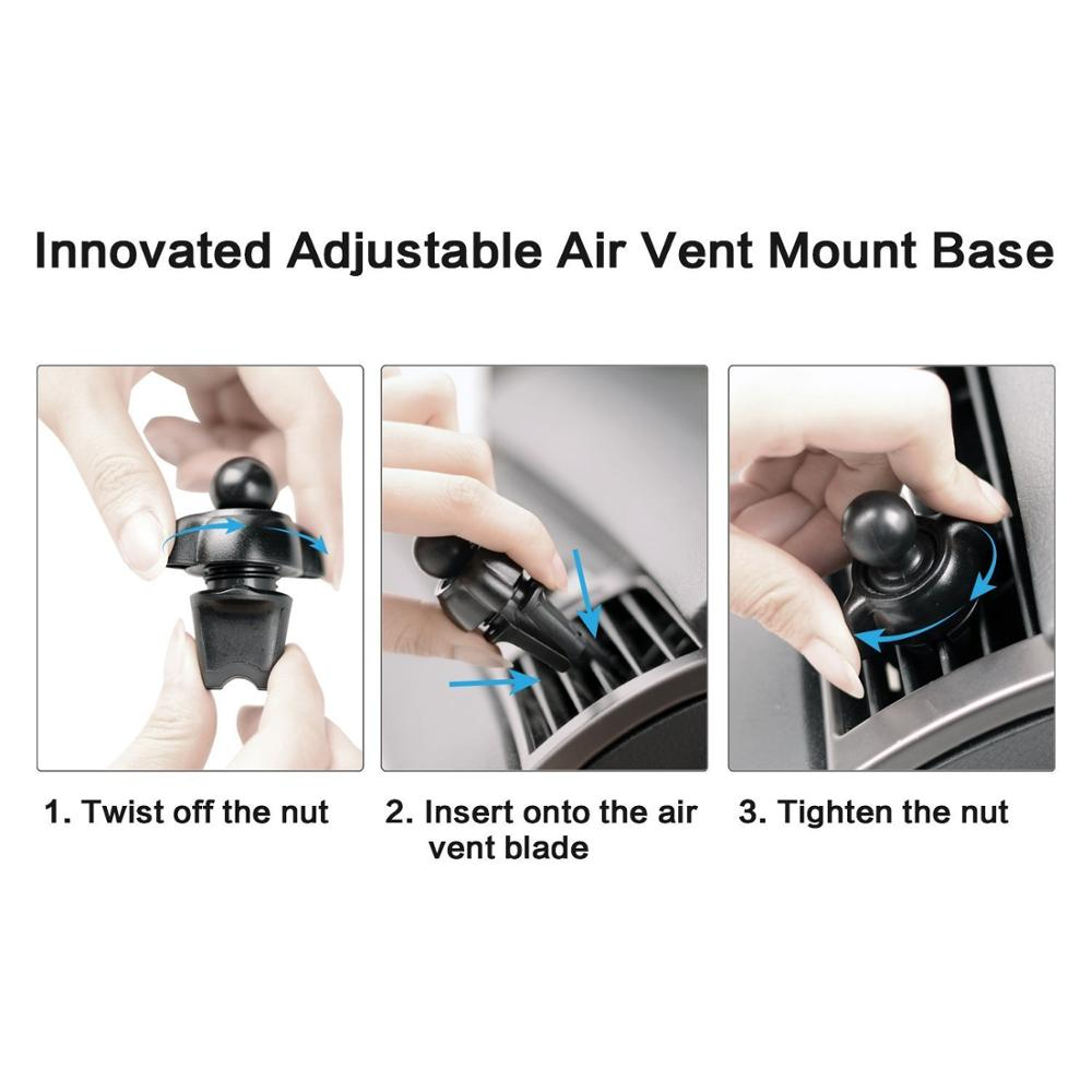 Newest car mobile phone accessories Auto-lock Air Vent car mount phone holder