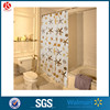 Plastic Eco friendly PEVA Custom Printed Shower Curtain