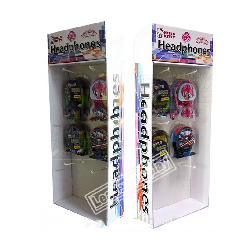 Hot Sales Customized Corrugated Retail Walmart Sidekick Display For Earphone Products