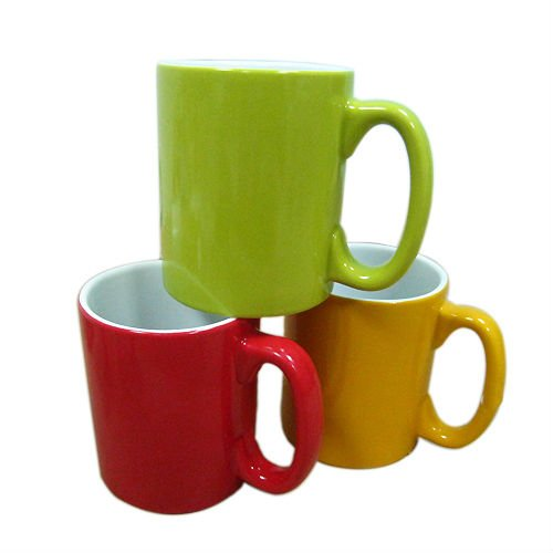 12oz Solid Colour Stoneware Mug Coffee Mug