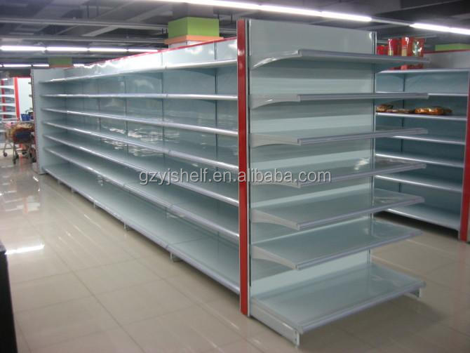 New Products Metal Wire Back Store Shelf Rack/small Supermarket ...