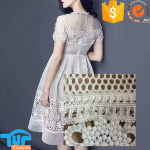 china manufacture wholesale venice dress white air 3d mesh fabric