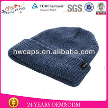 Hot Sale Fashionable KNit Hat Pictures/Solid Color Mens Style Knit Hat Pictures