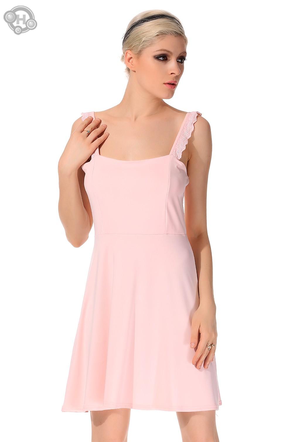 5b460b5ff Get Quotations · Fashion Ladies' High Waist Elegant Dress Sexy Sleeveless  Backless Spaghetti Strap Causal Slim Mini A