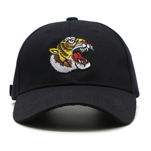 Latest design animal embroidery pattern sports baseball cap with hair