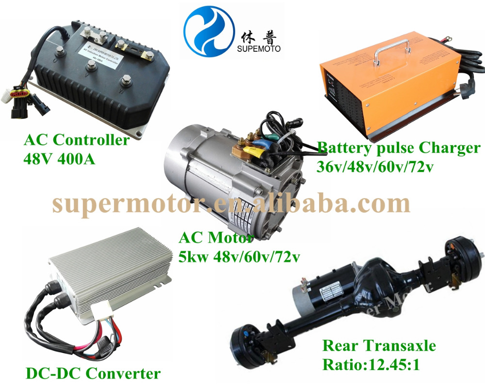 High Quality 5kw 48v Electric Ac Motor For Golf Carts