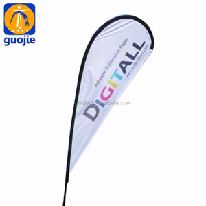 High Quality Advertising Feather Beach Flags/Custom Advertising outdoor teardrop flying feather flag pole&beach flags