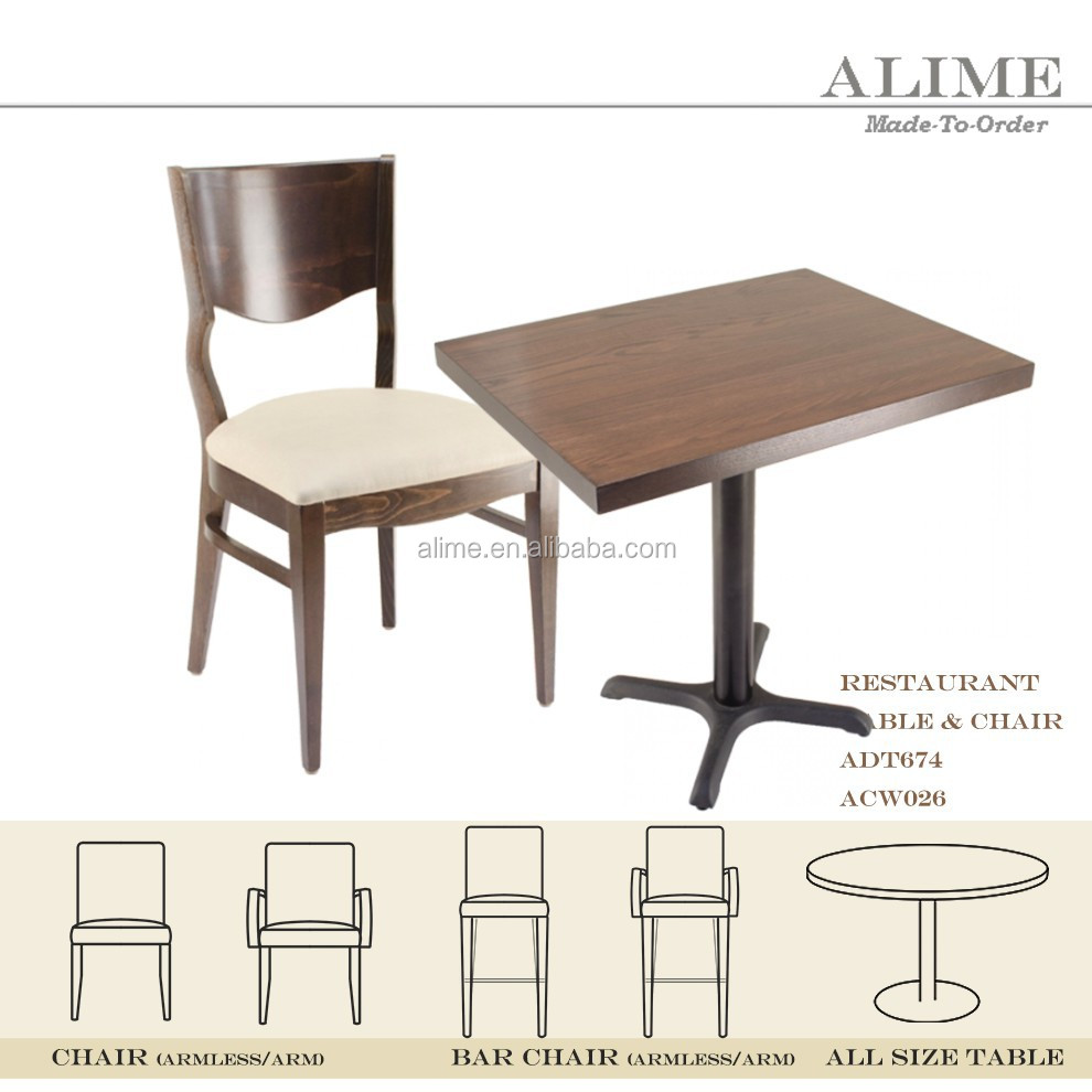 Alime modern restaurant dining oak chairs and tables