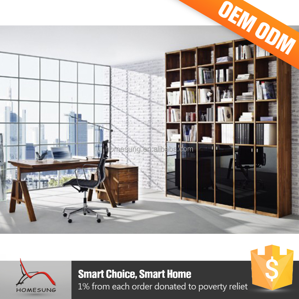 Moderne meubles ordinateur de bureau design avec tag re for Ameublement bureau moderne
