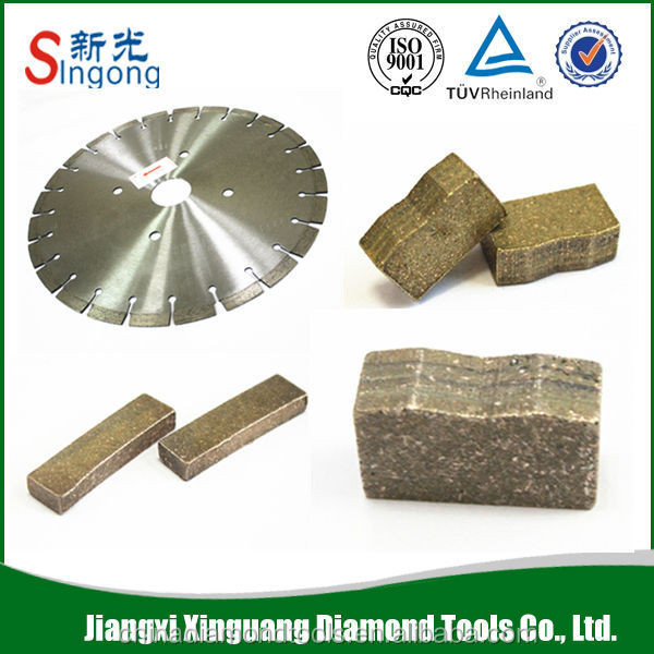 Multi tool diamond cutting segments and blade for marble