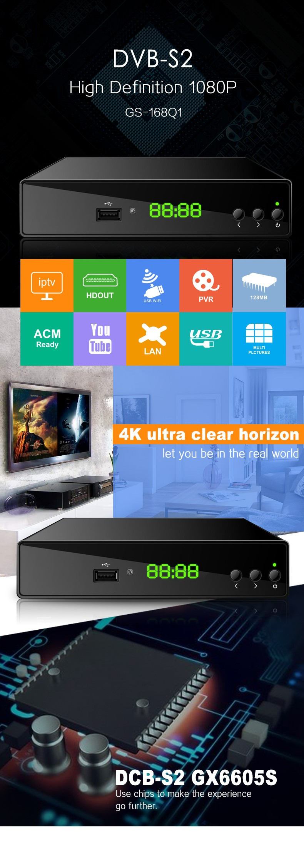 Xbmc Hd Combo Dvb-s2 Dvb-t2 Starsat Receiver Mpeg4/h 264 Dvb-s2 Receiver  Gx6605s Dvb-s2 4k Receiver - Buy Xbmc Hd Combo Dvb-s2 Dvb-t2 Starsat