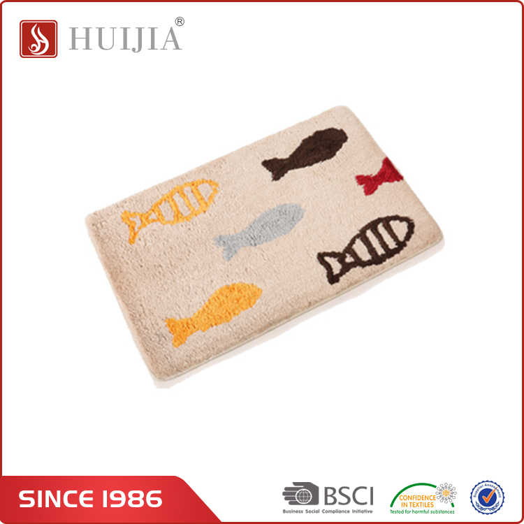 HUIJIA China Factory Direct Sale 40*60 cm Fish Floor Carprt Indoor Mat for Support Mix Wholesale