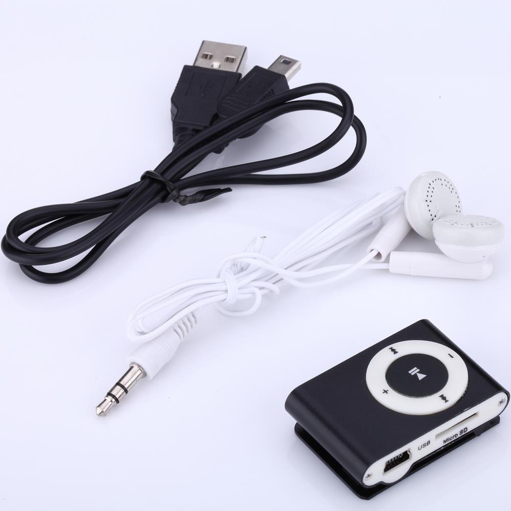 Retro Portable Mini Metal MP3 Player Sport Music Player Clip with SD Card Slot Clip Mp3 Player