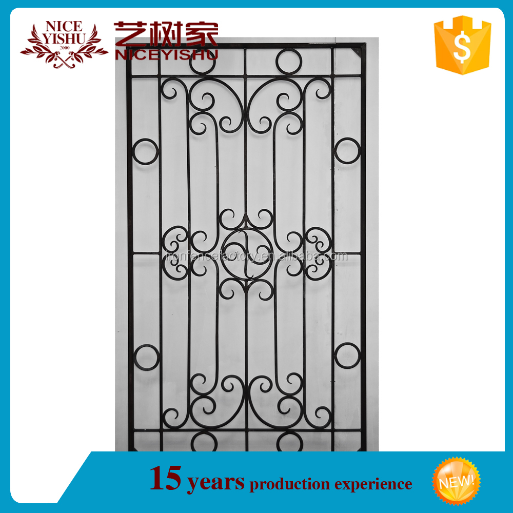 2016 factory direct price latest simple modern iron window grill