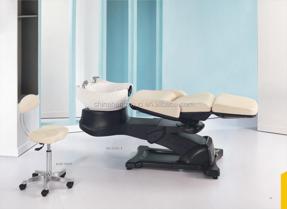 Professional electric hair salon funiture shampoo chair for 90 degrees salon