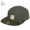 Cheap fashion hemp and wool made design your own 5 panel sports hat