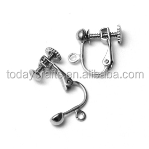 14mm Clip On Leverback with 4mm Half Round Silver Earwires, Ear Wires Earring Clips
