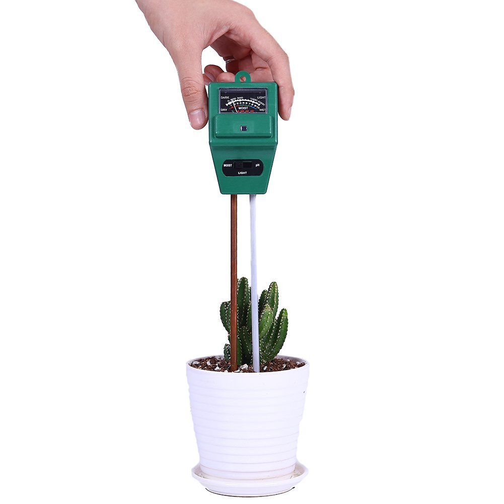 Kottle Soil pH Meter 3-in-1 Soil Tester for Moisture, Light and pH/Acidity Test, Perfect for Indoor and Outdoor Use (No Battery Needed)