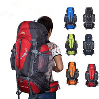 Waterproof suspension back system travelling bag camping big size trekking backpack
