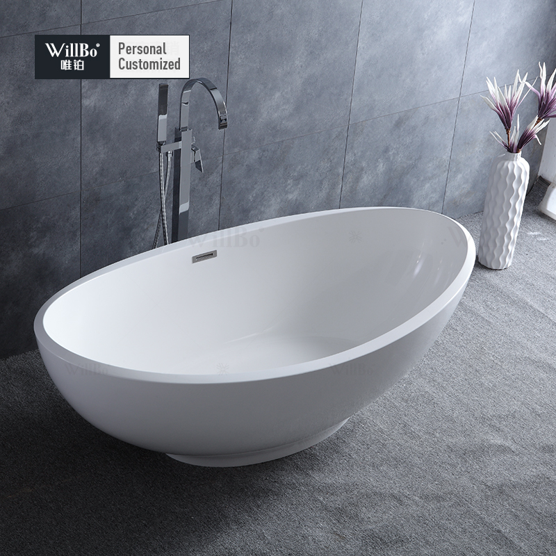 Hotel used artificial stone bathroom bathtub customized size availabled