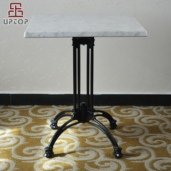 Sp Rt472 Black Cafe Used Cast Iron Leg Wooden Bistro Table