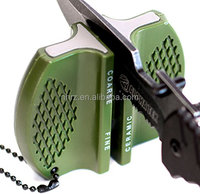 Outdoor Multifunction Mini Pocket Knife Sharpener with Keychain Hole