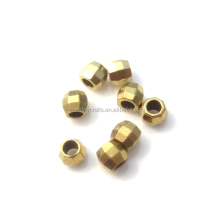 2.2mm * 2.4mm Brass Beads 2mm Metallo Sfaccettato Borda il Cubo