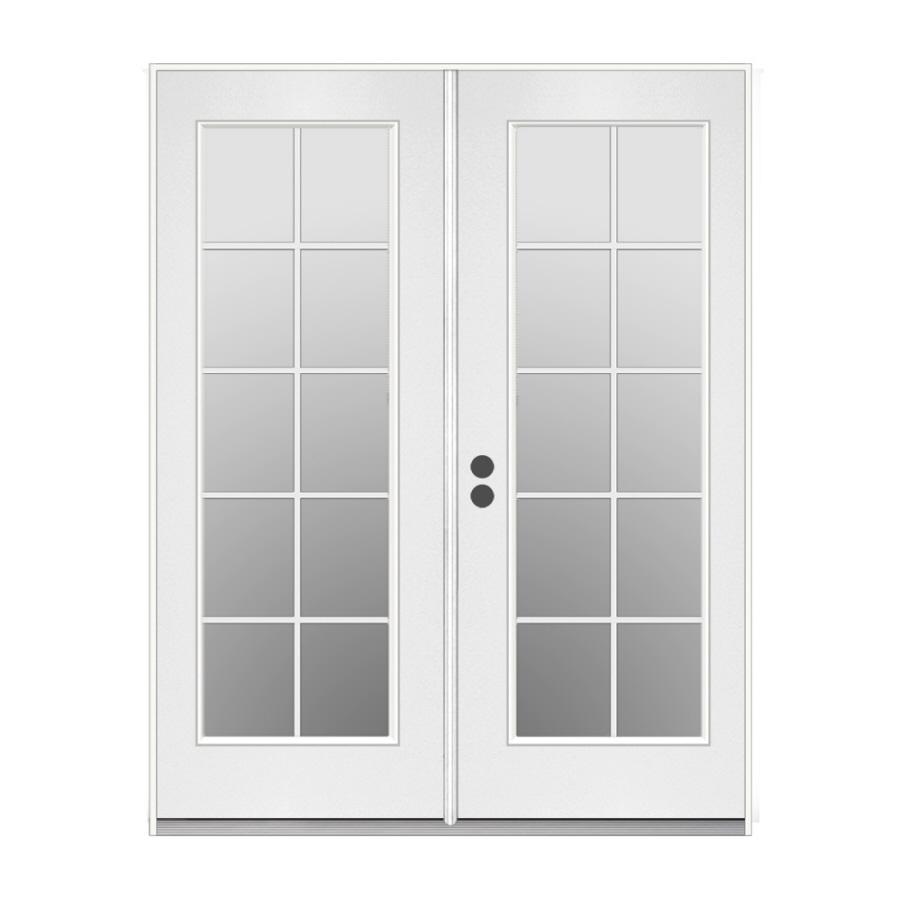 10 Lite White Paint Wood Door Window Inserts Front