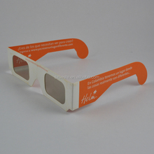 eco-friendly paper cardboard circular polarized 3d glasses