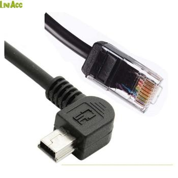 right angle mini usb wiring adapter b header connector to cat5e/rj45/rca  cable