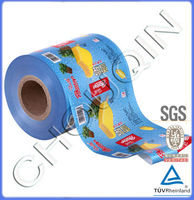 Printed food packaging roll stock for ice cream