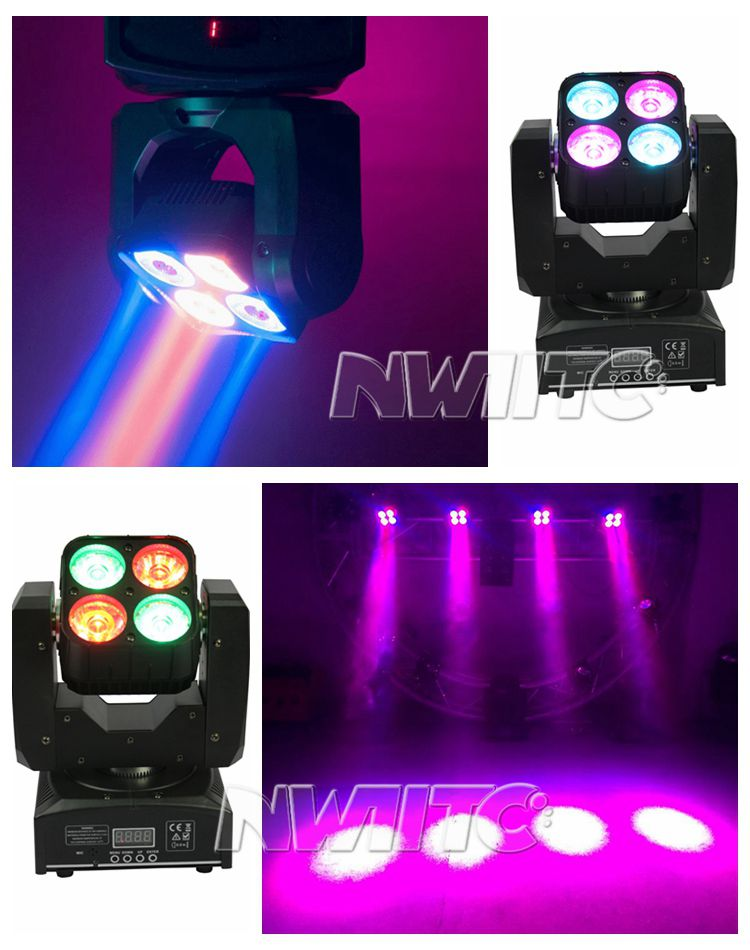 Stage Lights Yellow River Weinas 4pcsx15w Led Moving Head