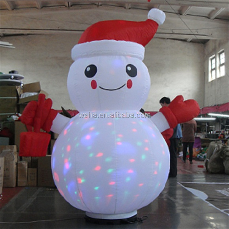 outdoor snowman inflatable cartoon for decoration/propaganda