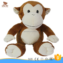customize heart beat recorder plush animal toy good quality plush monkey toy with heat bear recorder