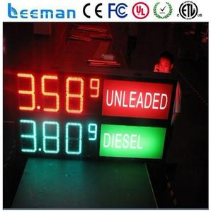 electric led clock led countdown&up clock gas petrol gas oli fuel price led outdoor indoor signs displays changers