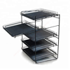Metal Bakery beverage shelf glides Display Shelves