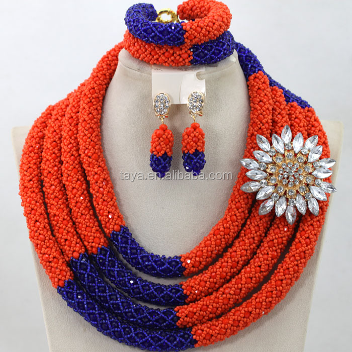 2016 New Style Coral Beads Jewelry Sets Nigeria Beads Jewelry Set ...