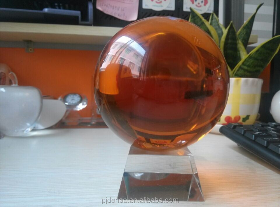 Hot Selling Decorative K9 Amber Crystal Ball