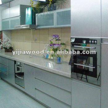High Gloss White Color Uv Finish Door Aluminium Edge Body Glass Door